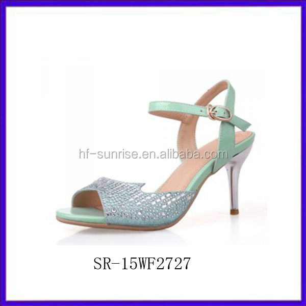 Sr-15wf2727(2)fashion Sexy Women Fancy Sandals New Gils Shoes Low ...