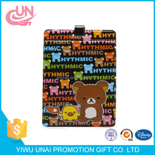 Easy bear cute cartoon luggage brand PVC soft glue for the front and back card set
