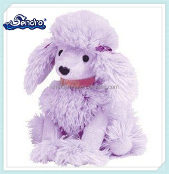 Stuffed Soft Toy Animal Pink Poodles Puppy With Ribbon For Sale