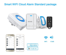SSG cheap Intelligent WIFI connected smart manual home security GSM alarm system wireless burglar alarms