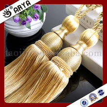 Wooden Material Curtain Decorative Cotton Fringe Tassel