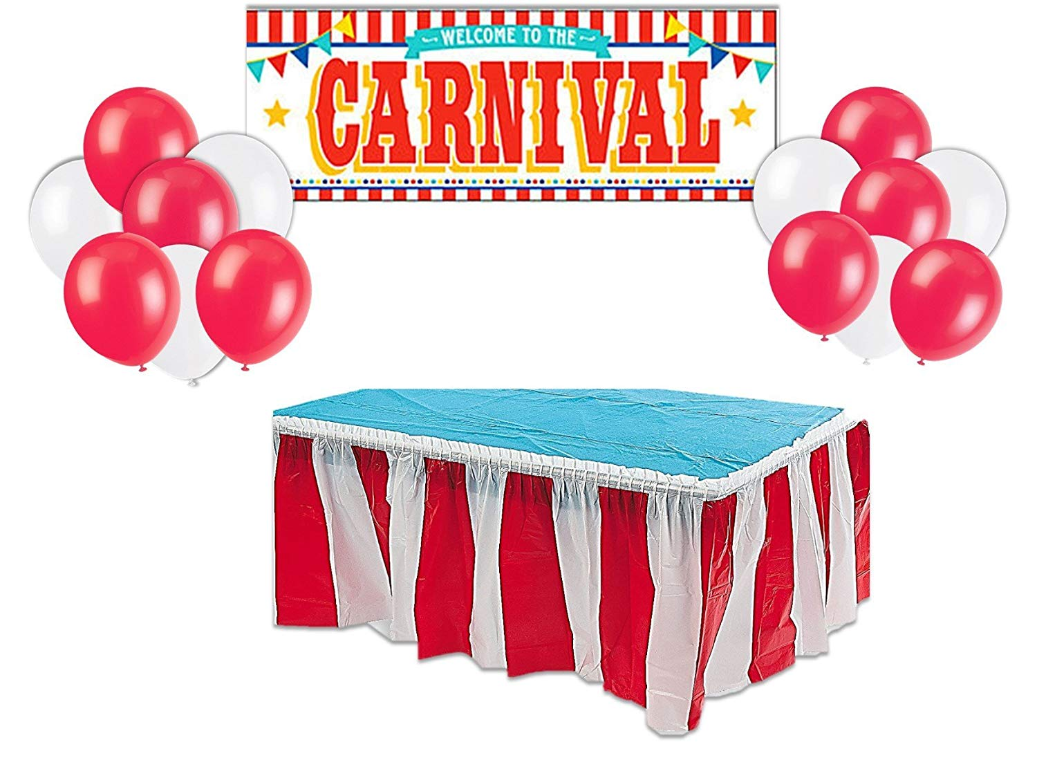 Buy Carnival Circus Party Supplies Decorations Red White Striped
