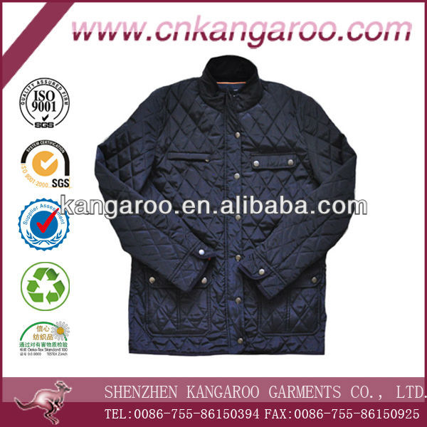 Streetwear stylish Diamond stitching Lightweight padding quilted jacket