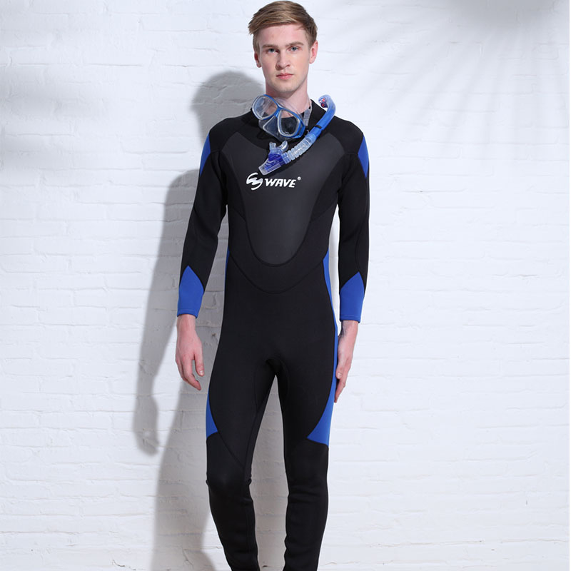 Factory direct sale for men printing freediving neoprene smooth skin chest zip wetsuit