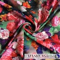 wholesale Velvet 100%Polyester crepe Chiffon printing for fabric