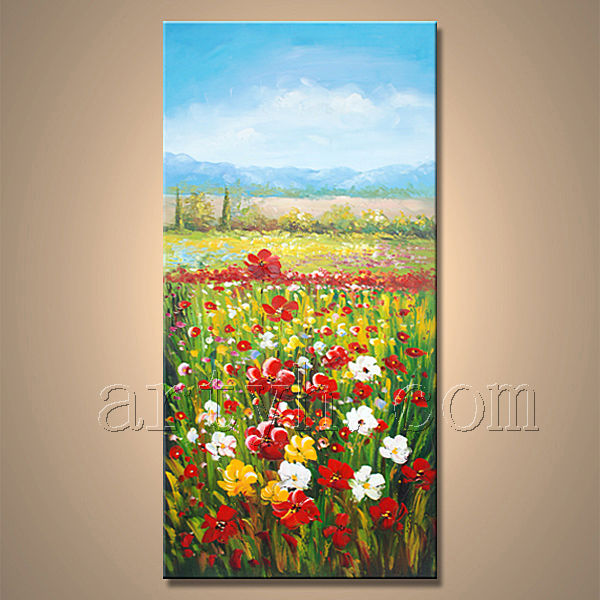 Newest Handmade Garden Scenery Oil Painting For Decor
