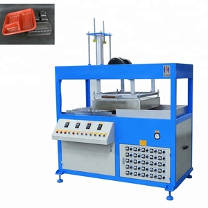 Single working station plastic vacuum blister forming machine