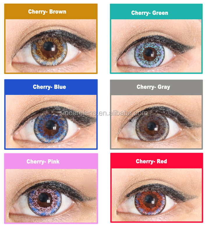 Meetone-Cherry 14.5mm yearly soft galaxy dream color contact lens