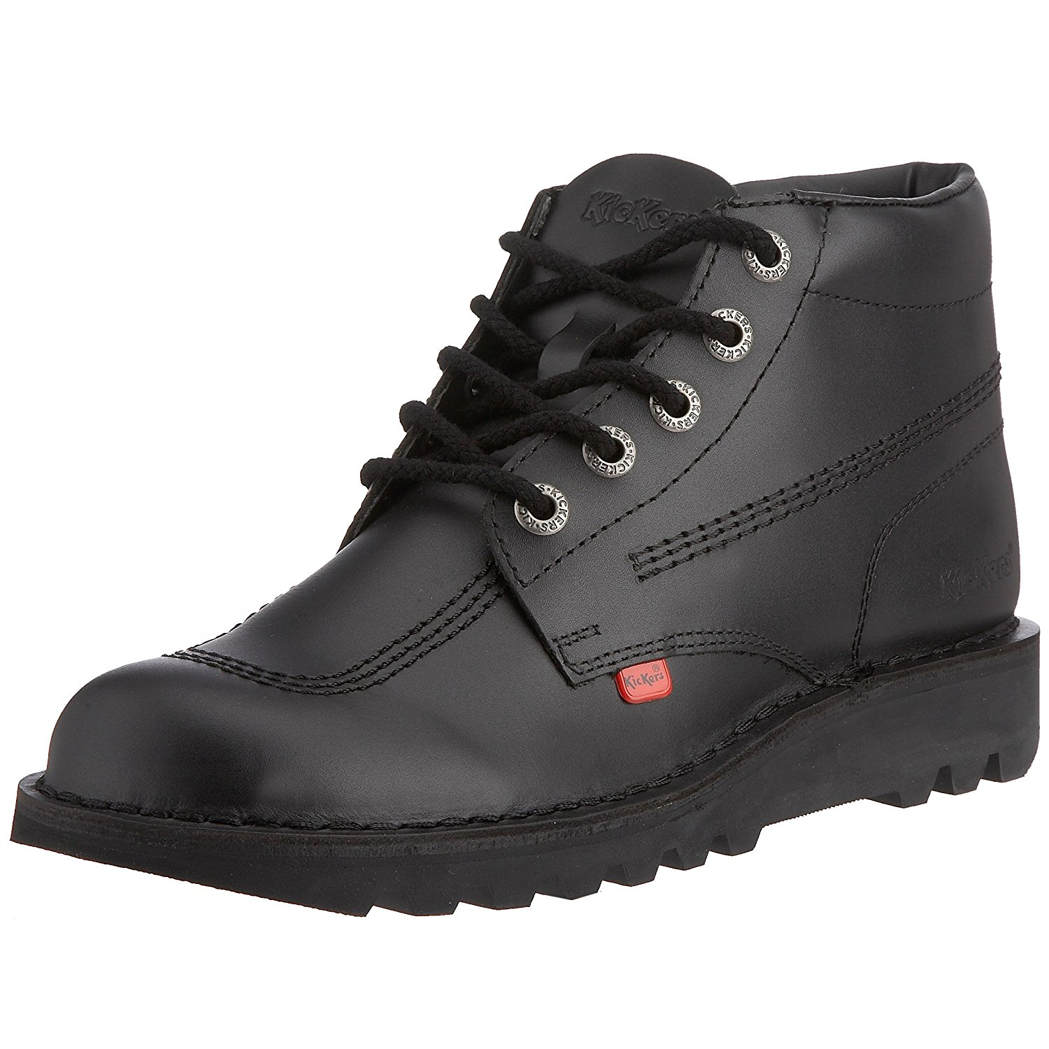 66c320a20 Buy M1 Kickers Kick Hi Boys Girls School Leather Lace Up Ankle Boots ...
