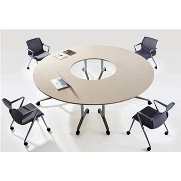 Round Office Folding Table With WheelsFoldable TableOffice
