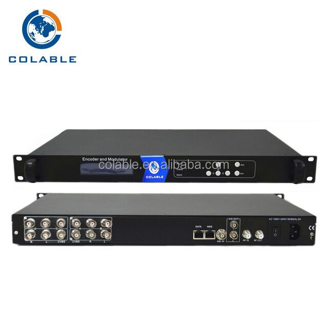 COL5011U-8CC 8 channel av encoder modulator dvb c