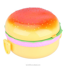 PP Dubbele Tier Kinderen <span class=keywords><strong>Hamburger</strong></span> Bento Lunchbox, Voedsel <span class=keywords><strong>Container</strong></span> Opslag, Lunchbox Bento <span class=keywords><strong>Container</strong></span>