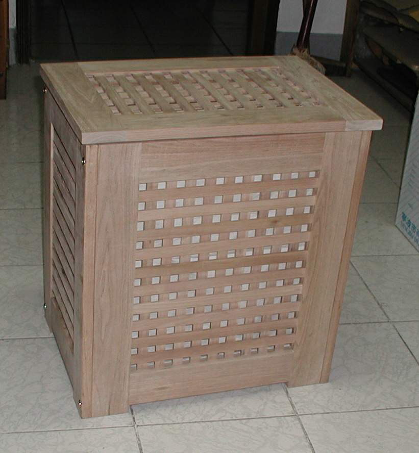 Massief houten badkamer mand wasmand massief notenhout met een katoenen zak geolied buy - Muurbekleding houten badkamer ...