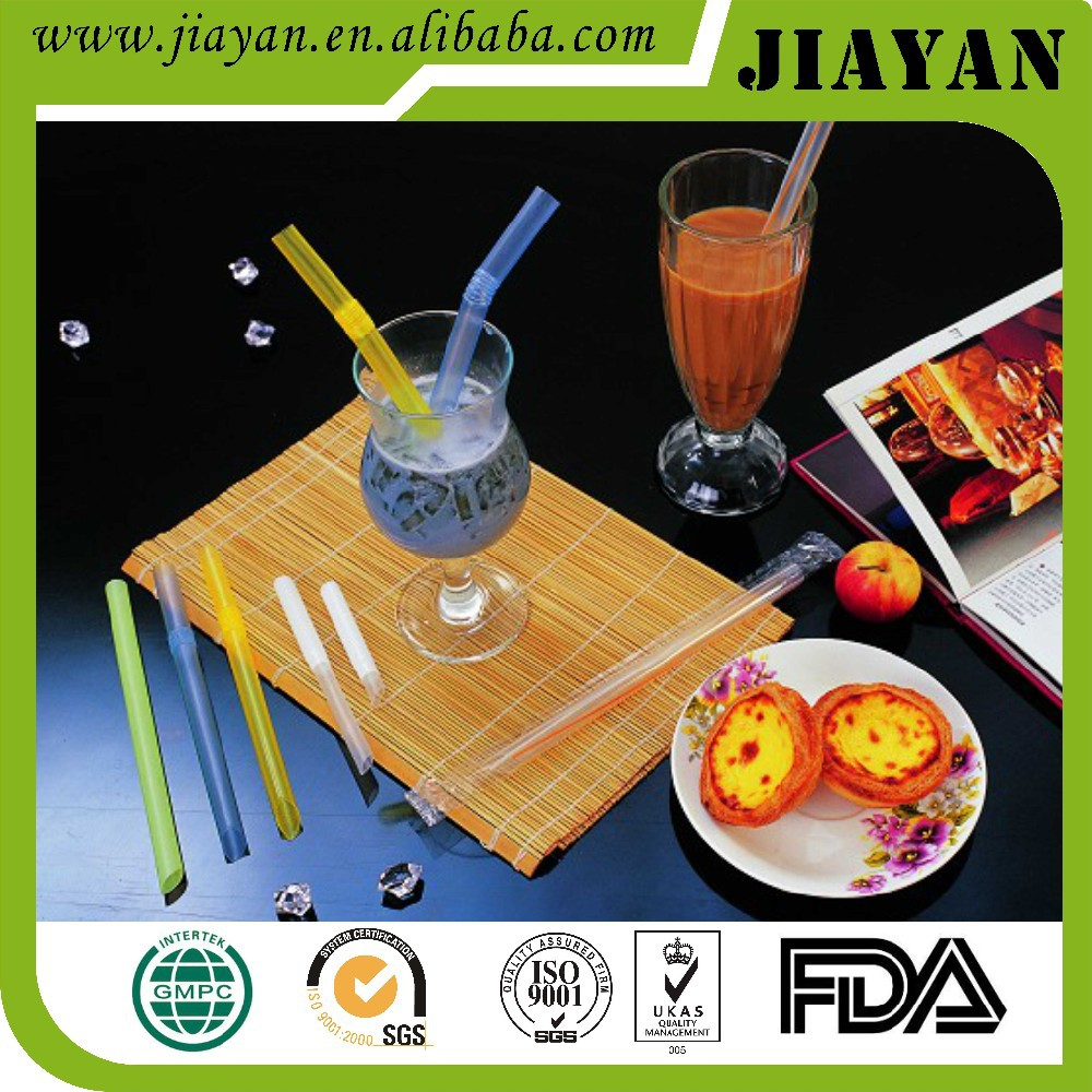 12*190mm bubble tea straight drinking straw