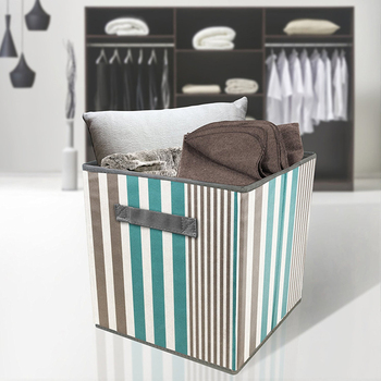 12 Inch Fabric Storage Cubes Foldable Bin Cloth Storage Containers