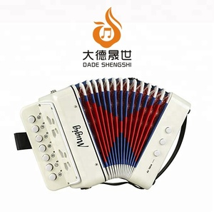 Ten Keys Toy Accordion Solo and Ensemble Instrument Musical Instrument Kids Accordion For Early Childhood Teaching