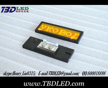 12*48 yellow color led name badge,magnet/pin, usb programmable led scrolling message