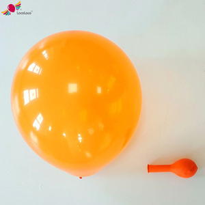 Solid colour natural rubber soft texture balloons for decor