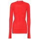Wholesale clothing direct from china custom high quality red sweater fitness wear korea knit sweater for women