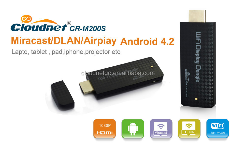 Wholesale reliable design ez cast wifi display dongle display miracast HDMI for Internet Streaming wifi display dongle