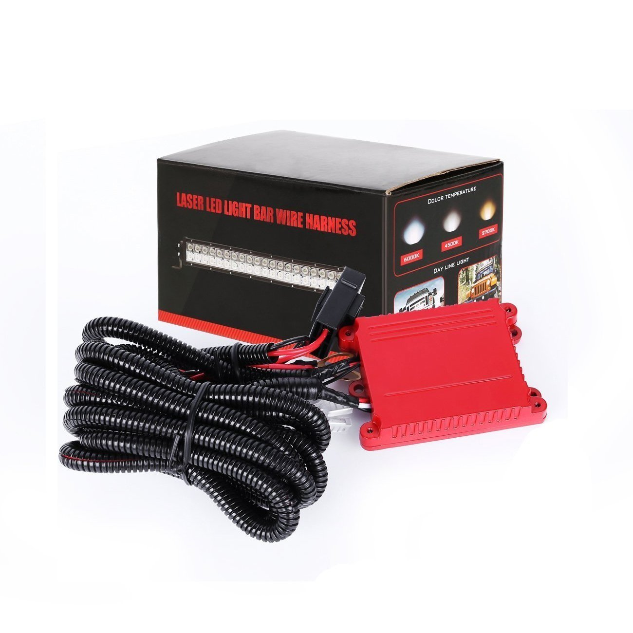 Get Quotations · LED Light Bar Wiring Harness Rigidhorse Remote Control  Wiring Harness Kit For Multi-color LED