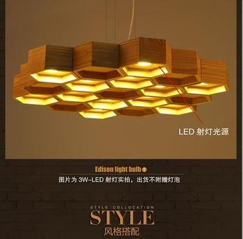 Creative Design modern wooden Ceiling lamp With LED lighting