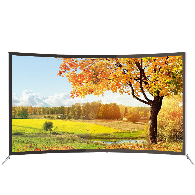43 49 50 55 65 inch slim curve screen UHD Curved Android 4K <strong>TV</strong> with 8G memory and DVB-T2