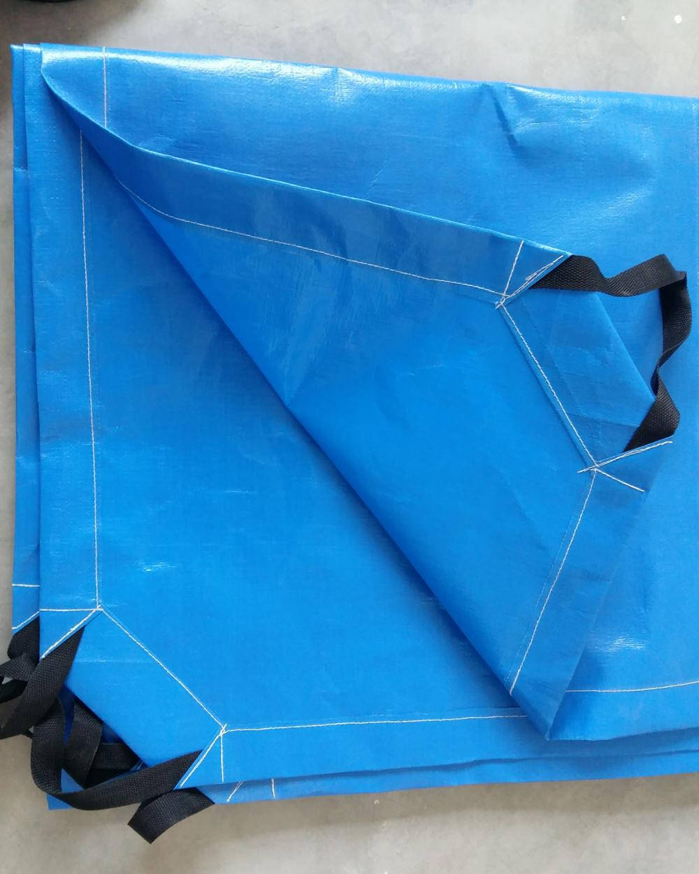 New Heavy Duty Tarpaulin Blue Waterproof Strong Cover Ground Sheet Tarp 5 sizes