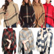 Winter Double Face Pashmina Wool Poncho For Women