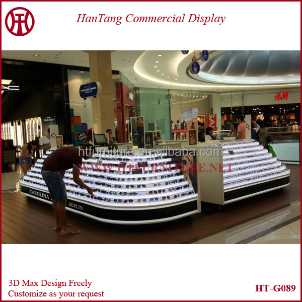 Sunglasses Kiosk For  customize mall sunglasses kiosk display sunglasses showcase with