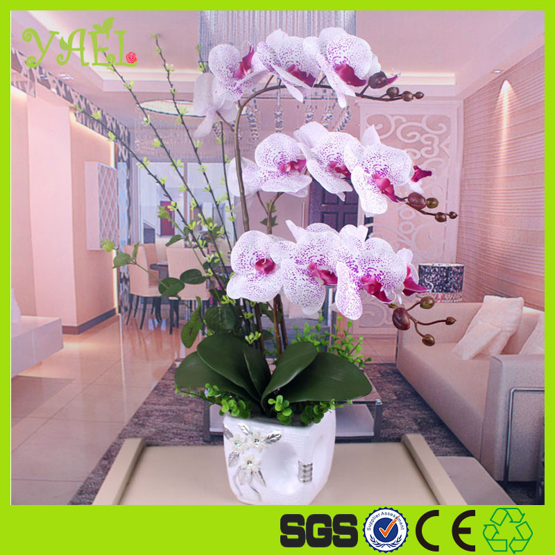 Party decoration artificial flowers white Mokara orchid Flower Type orchids wall hanging artificial flowers