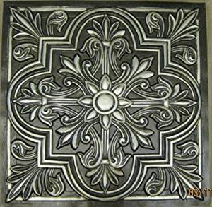 "Ceiling Tiles Victorian Stile #302 Antique Silver Decorative Plastic 24""x24"" FIRE Rated.can Be Glue On,nail On,tape On,staple on Any Flat Serfase.cheap."