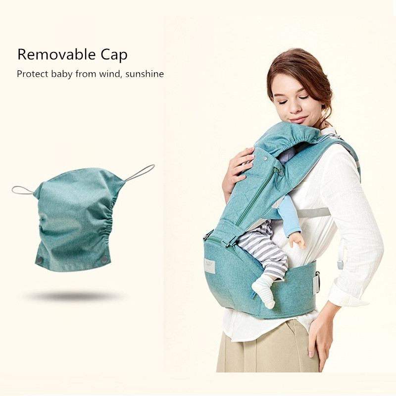 Ergonomic Baby Carrier with Hip Seat, Natural Form Baby Carrier Backpack for All Seasons