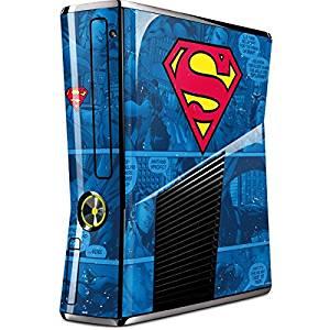 DC Comics Superman Xbox 360 Slim (2010) Skin - Superman Logo Vinyl Decal Skin For Your Xbox 360 Slim (2010)