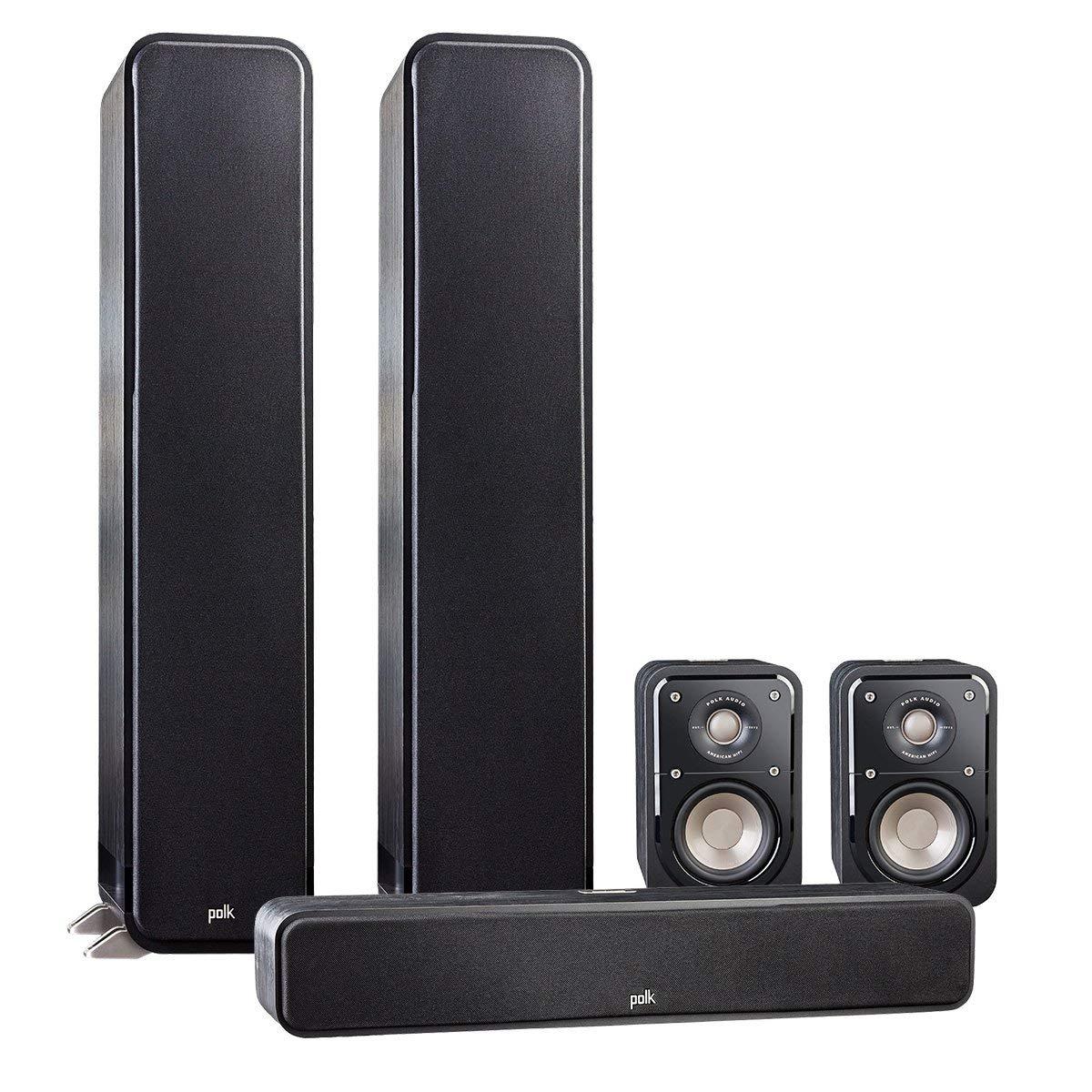 Polk Audio 5.0 Signature Series S60 Home Theater Package with S20 Bookshelf Speakers and S35 Slim Center Speaker (Black)