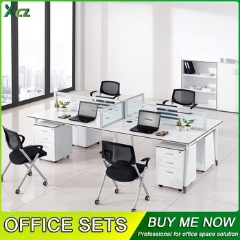 Office Desk For 4 People Long Table Workstations Modern Office Desk