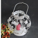 antique beautiful butterflies crystal glass metal tealight candle holder