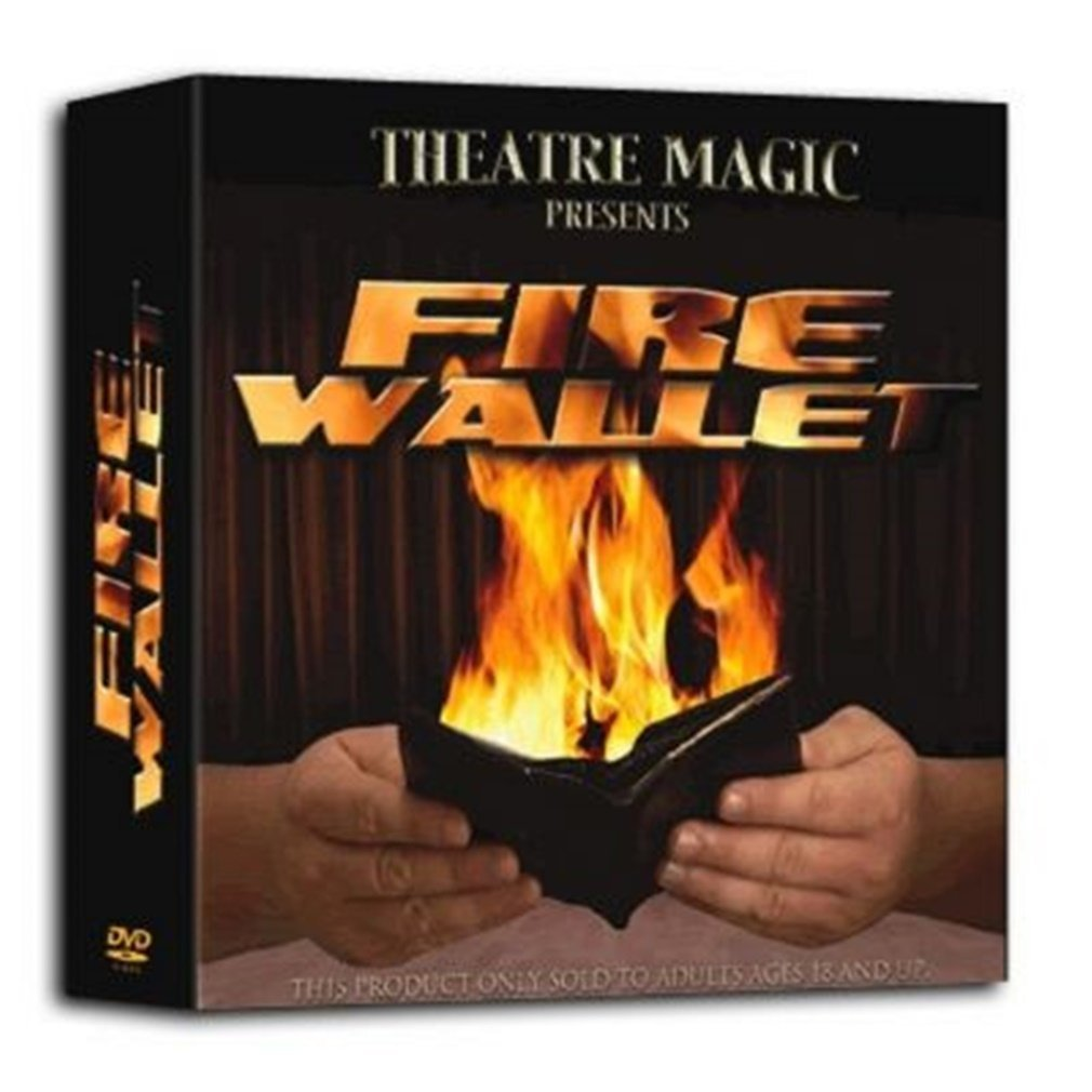 Magic Fire Wallet - Includes Trick Wallet and DVD
