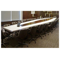 Hot sale large multimedia room furniture specifications luxury modern conference office meeting table