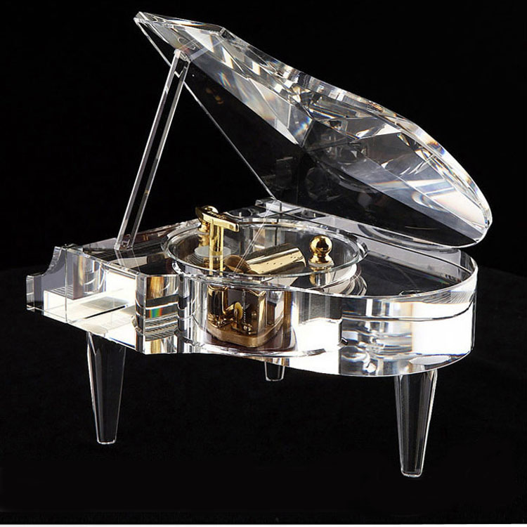 High quality wireless Bluetooth piano music box crystal wedding gifts