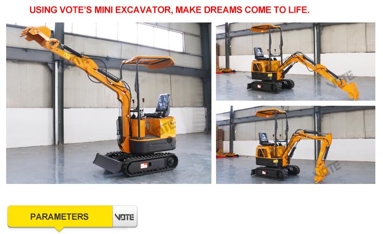 VTW-10 1000kg escavatore 1 ton 11.7 HP Rinoceronte Mini macchina Idraulica Crawler mini Escavatore escavatori produttori di prezzi
