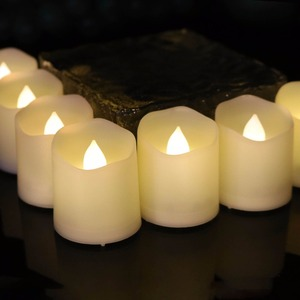CR2450 Battery Operated China New LED Candle Holder Plastic Flameless Tea Lights Factory Direct