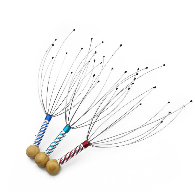 Comfortable the scalp to relax stainless steel head massager