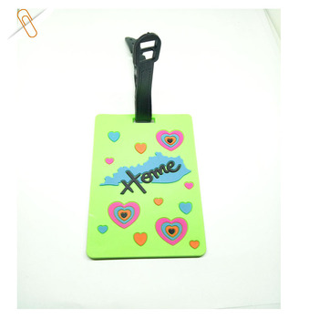 rubberized 3d soft pvc luggage bag tag for advertisement