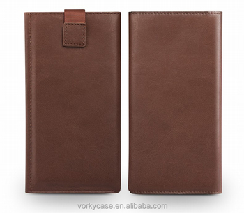 Universal leather phone pouch/sleeve for 4.7/5.5 inch phones
