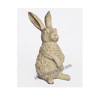Metal Rabbit garden ornament, garden rabbit statues sculpture