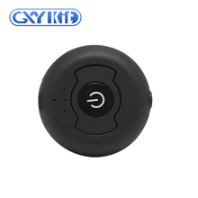 GXYKIT 2018 China made Black mini circular Bluetooth V4.0 Audio Receiver Bluetooth transmitter connect to 2 devices