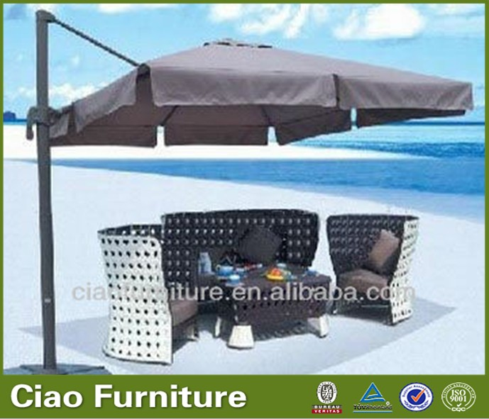 Furniture Pulleys Giant Beach Umbrella With Stand