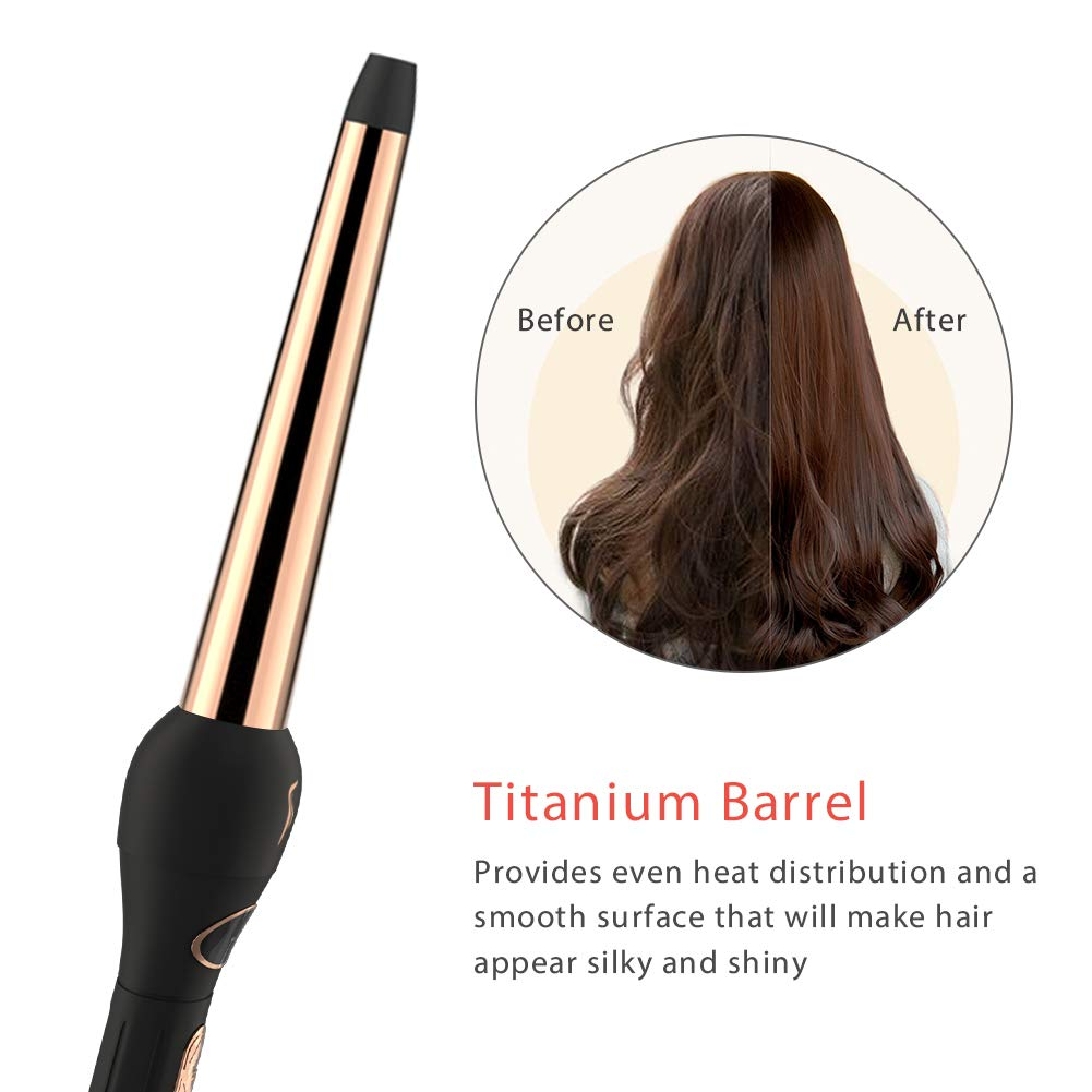3 in 1 Interchangeable Gold Electric Ceramic Hair Curler Wand Set Curling Rods Hair