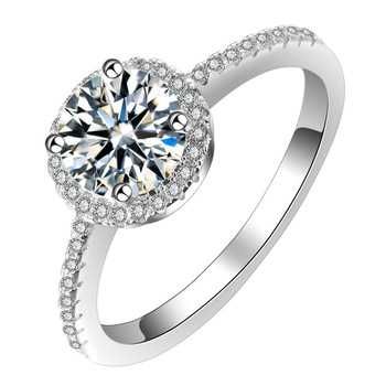 Western Jewelry Women Diamond CZ Platinum Plated Engagement Wedding Rings